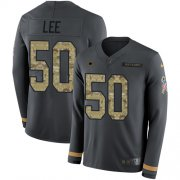 Wholesale Cheap Nike Cowboys #50 Sean Lee Anthracite Salute to Service Youth Stitched NFL Limited Therma Long Sleeve Jersey