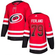 Wholesale Cheap Adidas Hurricanes #79 Michael Ferland Red Home Authentic Drift Fashion Stitched NHL Jersey