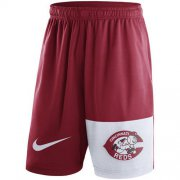 Wholesale Cheap Men's Cincinnati Reds Nike Red Cooperstown Collection Dry Fly Shorts