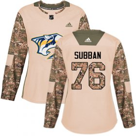 Wholesale Cheap Adidas Predators #76 P.K Subban Camo Authentic 2017 Veterans Day Women\'s Stitched NHL Jersey