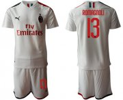 Wholesale AC Milan #13 Romagnoli Away Soccer Club Jersey