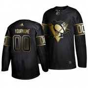 Wholesale Cheap Adidas Penguins Custom Men's 2019 Black Golden Edition Authentic Stitched NHL Jersey