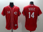Wholesale Cheap Reds #14 Pete Rose Red Flexbase Authentic Collection Stitched MLB Jersey