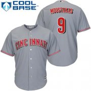 Wholesale Cheap Reds #9 Mike Moustakas Grey New Cool Base Stitched MLB Jersey
