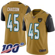 Wholesale Cheap Nike Jaguars #45 K'Lavon Chaisson Gold Youth Stitched NFL Limited Rush 100th Season Jersey