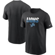 Wholesale NFL Men's Detroit Lions Nike Anthracite Crucial Catch Tri-Blend Performance T-Shirt