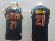 Wholesale Cheap Cleveland Cavaliers #21 Andrew Wiggins Revolution 30 Swingman Navy Blue Jersey