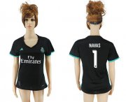 Wholesale Cheap Women's Real Madrid #1 Navas Away Soccer Club Jersey