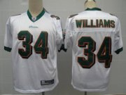 Wholesale Cheap Dolphins #34 Ricky Williams White Stitched NFL Jersey
