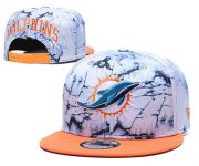 Wholesale Cheap Dolphins Team Logo Smoke Orange Adjustable Hat TX