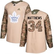 Wholesale Cheap Adidas Maple Leafs #34 Auston Matthews Camo Authentic 2017 Veterans Day Stitched Youth NHL Jersey