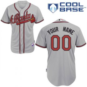 Wholesale Cheap Braves Personalized Authentic Grey MLB Jersey (S-3XL)
