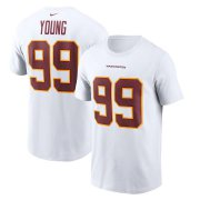 Wholesale Cheap Washington Redskins #99 Chase Young Football Team Nike Player Name & Number T-Shirt White