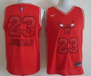 Wholesale Cheap Men's Chicago Bulls #23 Michael Jordan Red Bull Head Fashion Stitched NBA Nike Swingman Jersey