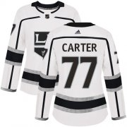 Wholesale Cheap Adidas Kings #77 Jeff Carter White Road Authentic Women's Stitched NHL Jersey