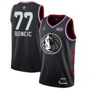 Wholesale Cheap Mavericks #77 Luka Doncic Black Basketball Jordan Swingman 2019 All-Star Game Jersey