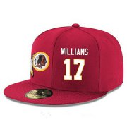 Wholesale Cheap Washington Redskins #17 Doug Williams Snapback Cap NFL Player Red with White Number Stitched Hat