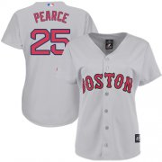 Wholesale Cheap Red Sox #25 Steve Pearce Grey Road Women's Stitched MLB Jersey