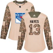 Wholesale Cheap Adidas Rangers #13 Kevin Hayes Camo Authentic 2017 Veterans Day Women's Stitched NHL Jersey