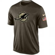 Wholesale Cheap Men's Miami Dolphins Salute To Service Nike Dri-FIT T-Shirt