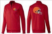 Wholesale Cheap NFL Cleveland Browns Team Logo Jacket Red