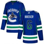 Wholesale Cheap Adidas Canucks #6 Brock Boeser Blue Home Authentic Drift Fashion Stitched NHL Jersey