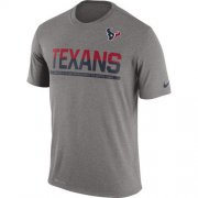 Wholesale Cheap Men's Houston Texans Nike Practice Legend Performance T-Shirt Grey