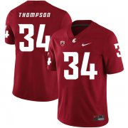 Wholesale Cheap Washington State Cougars 34 Jalen Thompson Red College Football Jersey