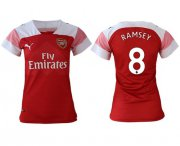 Wholesale Cheap Women's Arsenal #8 Ramsey Home Soccer Club Jersey