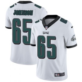 Wholesale Cheap Nike Eagles #65 Lane Johnson White Youth Stitched NFL Vapor Untouchable Limited Jersey