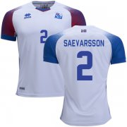 Wholesale Cheap Iceland #2 Saevarsson Away Soccer Country Jersey