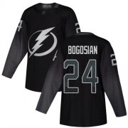 Cheap Adidas Lightning #24 Zach Bogosian Black Alternate Authentic Youth Stitched NHL Jersey