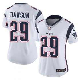 Wholesale Cheap Nike Patriots #29 Duke Dawson White Women\'s Stitched NFL Vapor Untouchable Limited Jersey