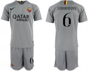 Wholesale Cheap Roma #6 Strootman Away Soccer Club Jersey