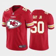 Wholesale Cheap Kansas City Chiefs #50 Willie Gay Jr. Red Men's Nike Big Team Logo Player Vapor Limited NFL Jersey