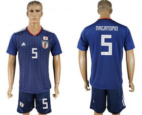Wholesale Cheap Japan #5 Nagatomo Home Soccer Country Jersey