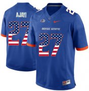 Wholesale Cheap Boise State Broncos 27 Jay Ajayi Blue USA Flag College Football Jersey