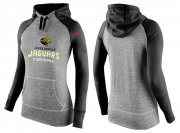 Wholesale Cheap Women's Nike Jacksonville Jaguars Performance Hoodie Grey & Black