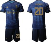 Wholesale Cheap Real Madrid #20 Asensio Dark Blue Soccer Club Jersey