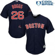 Wholesale Cheap Red Sox #26 Wade Boggs Navy Blue New Cool Base 2018 World Series Champions Stitched MLB Jersey