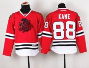 Wholesale Cheap Blackhawks #88 Patrick Kane Red(Red Skull) Stitched Youth NHL Jersey