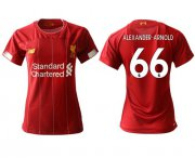 Wholesale Cheap Women's Liverpool #66 Alexander-Arnold Red Home Soccer Club Jersey