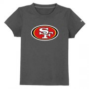 Wholesale Cheap San Francisco 49ers Sideline Legend Authentic Logo Youth T-Shirt Dark Grey