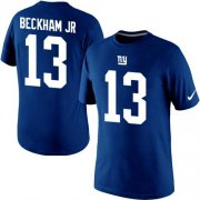 Wholesale Cheap Nike New York Giants #13 Odell Beckham Jr Pride Name & Number NFL T-Shirt Blue