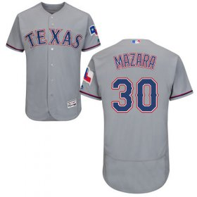 Wholesale Cheap Rangers #30 Nomar Mazara Grey Flexbase Authentic Collection Stitched MLB Jersey