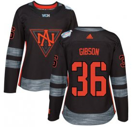 Wholesale Cheap Team North America #36 John Gibson Black 2016 World Cup Women\'s Stitched NHL Jersey