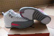 Wholesale Cheap Womens Air Jordan 12 Retro Shoes White Grey Pink
