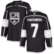Wholesale Cheap Adidas Kings #7 Oscar Fantenberg Black Home Authentic Stitched NHL Jersey
