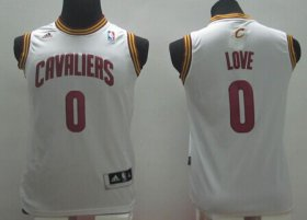 Cheap Cleveland Cavaliers #0 Kevin Love White Kids Jersey