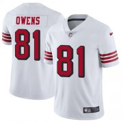 Wholesale Cheap Nike 49ers #81 Terrell Owens White Rush Men's Stitched NFL Vapor Untouchable Limited Jersey